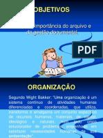 organizaçao manutençao de arquivo - PACC