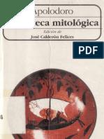 APOLODORO, BIBLIOTECA MITOLÓGICA