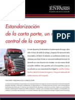 Estandarización de la carta porte, un mejor control de la carga