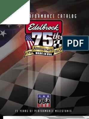 Edelbrock Catalogo   Carburetor   Vehicles
