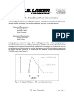 Tech Note for Pulsed Beam Characterization
