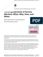 The Empowerment of Service Workers Artcile