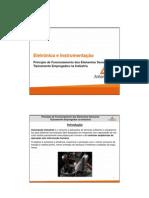 TRÔNICA E INSTRUMENTAÇÃO - Princípio de Funcionamento dos Elementos Sensores Tipicamente Empregados na Indústria