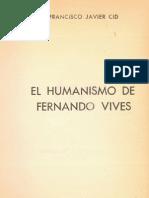 El Humanismo de Fernando Vives