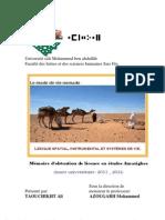 Le mode de vie nomade - Lexique spatial, instrumental et systèmes de vie - Mémoire de TAOUCHIKHT Ali