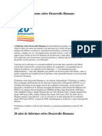 Historia Del Informe Sobre Desarrollo Humano