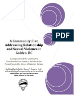 addressing relationship and sexual violence community plan golden bc