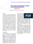 Computational Tools for Aircraft System Analysis and Optimization