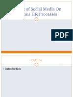Impact of Social Media n Various HR Processes