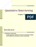 Week 4, Unit 1 Qualitative Interviewing