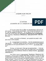 Cpa1.3.Miller LA SUTURE (ELEMENTS DE LA LOGIQUE DU SIGNIFIANT) Il