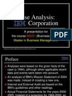 14425723 IBM Corporation a Case Analysis