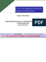Teoremas Pitagoras Thales