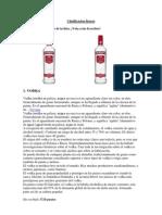 clasificacion licores