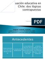 LA EVALUACIÓN EDUCATIVA EN CHILE. DOS LOGICAS CONTRAPUESTASppt