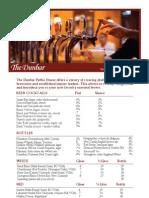 the dunbar drink menu april 2013