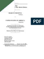 Johnston v. US Petition for Cert