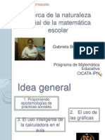 Naturaleza Social de La Matematica