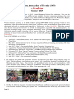 singapore association of nevada e-newsletter - summer 2013