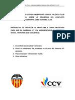 Informe de Ccv Para El Valencia Cf