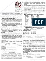 Tik-Takbo 2 Registration Form