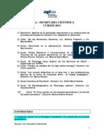 Asociacion de Psicologos de Buenos Aires - Cursos de la Secretaria Cientifica