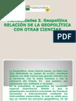 La Relacion de La Geopolitica Con Otras Ciencias