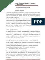 ESPECIFICACIONES TECNICAS ANCO 3