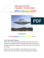 Sport Model Flying Disc Operational Specifications