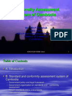 Development of Conformity Assessment System of Cambodia