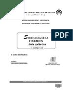 Guía Didáctica de Sociología de la Educación