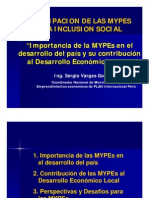 Importancia de Las MYPEs Al Desarrollo Nacional y Local