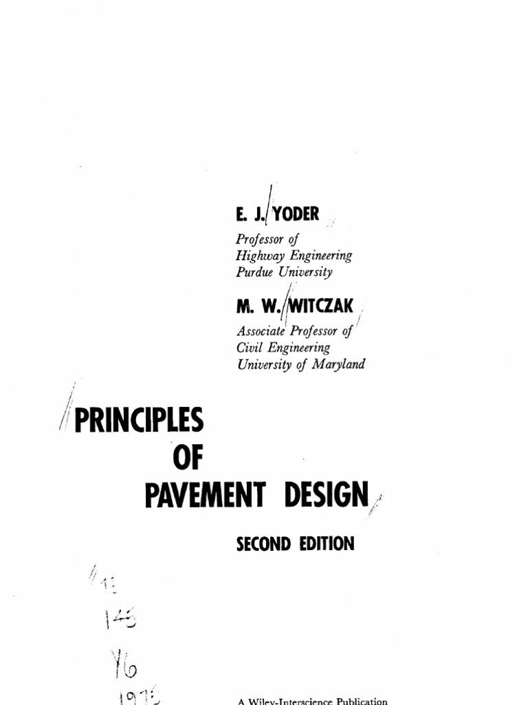 Principles of Pavement Design Yoder, 2nd Ed