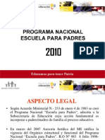 Programa Nacional de Escuela Para Padres 2010