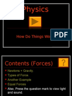 Physics How Do Things Work? Contents (Forces)  