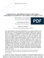 Conditional Discriminations by Preverbal Children in an Identity