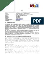 SILABO 120716 MBA Managerial - Estadística para la Administración AQP XV