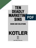 Ten Deadly Marketing Sins - Philip Kotler