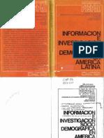 Información e investigación sociodemográfica en América Latina