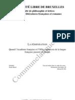 Feminisation Polemiques en France Et a Quebec