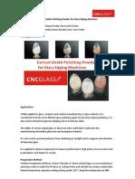Cerium Oxide Polishing Powder for Glass Edging Machines