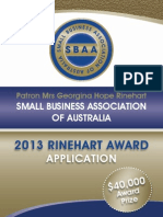 Small Business Assoc Award Nomination