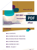 ISO 9001 - 9004 Version 2008 Les Volutions