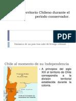 El Territorio Chileno durante el período conservador