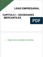 110521, Capitulo i Sociedades Mercantiles Exposicion