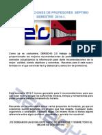 SÉPTIMO SEMESTRE 2014-1 RECOMENDACIONES DE PROFESORE....txt