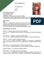 translator/interpreter CV