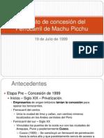 Contrato de concesión del Ferrocarril de Machu Picchu.ppt