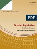 Dossier 014 - Banco de Datos Geneticos - Legislacion Extranjera