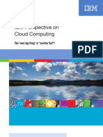 IBM PERSPECTIVE ON  CLOUD COMPUTINGFINAL10.07